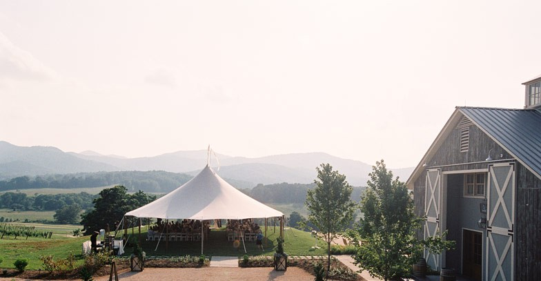 Pippin Hill wedding ceremony set up