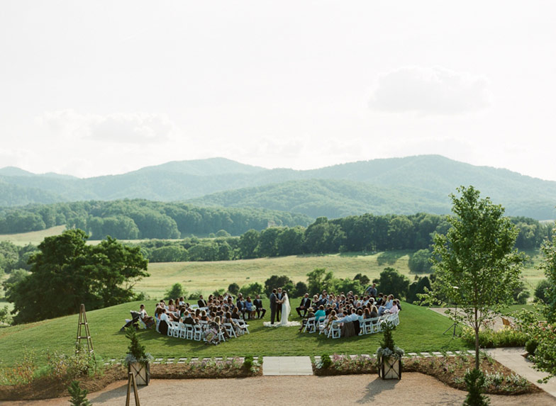 Wedding ceremony at Pippin Hill