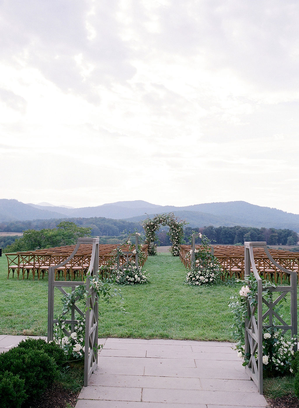 Pippin Hill Wedding_Ceremony_Blue Ridge View